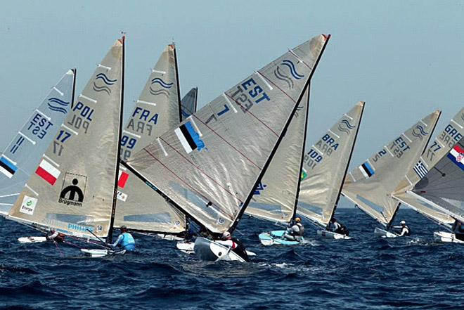 2014 ISAF Sailing World Cup, Hyeres, France - Finn fleet © Thom Touw http://www.thomtouw.com