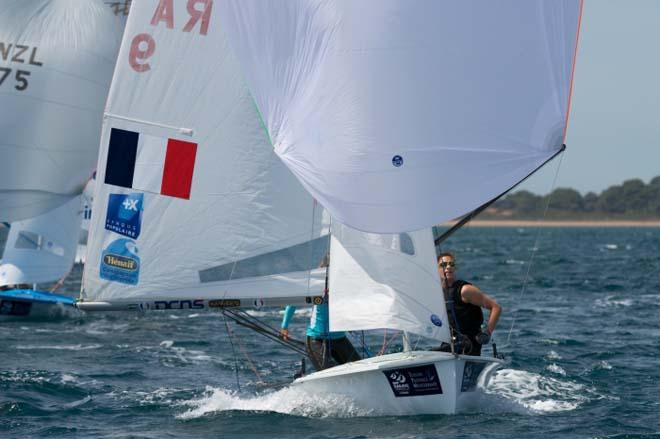 470 Women, Lecointre and Defrance - 2014 ISAF Sailing World Cup Hyeres © Franck Socha
