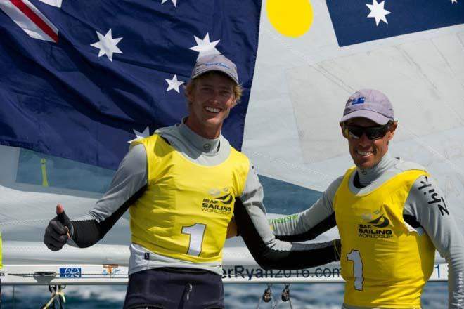 Australia's Mat Belcher and Will Ryan - 2014 ISAF Sailing World Cup Hyeres © Franck Socha