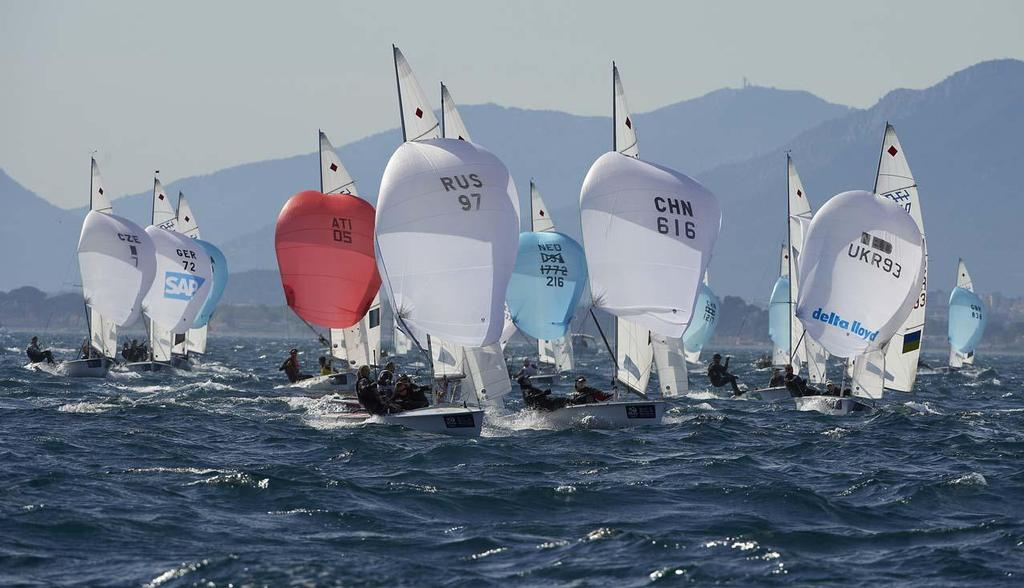 470 Women fleet - 2014 ISAF Sailing World Cup Hyeres, Day 4 © Yvan Zedda http://www.zedda.com.
