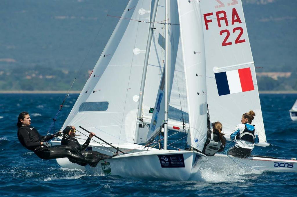 470 Women in action ©  Franck Socha / ISAF Sailing World Cup Hyeres http://swc.ffvoile.fr/