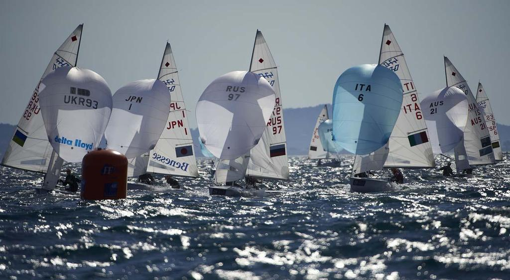 470 Women's fleet - 2014 ISAF Sailing World Cup Hyeres, Day 4 © Yvan Zedda http://www.zedda.com.