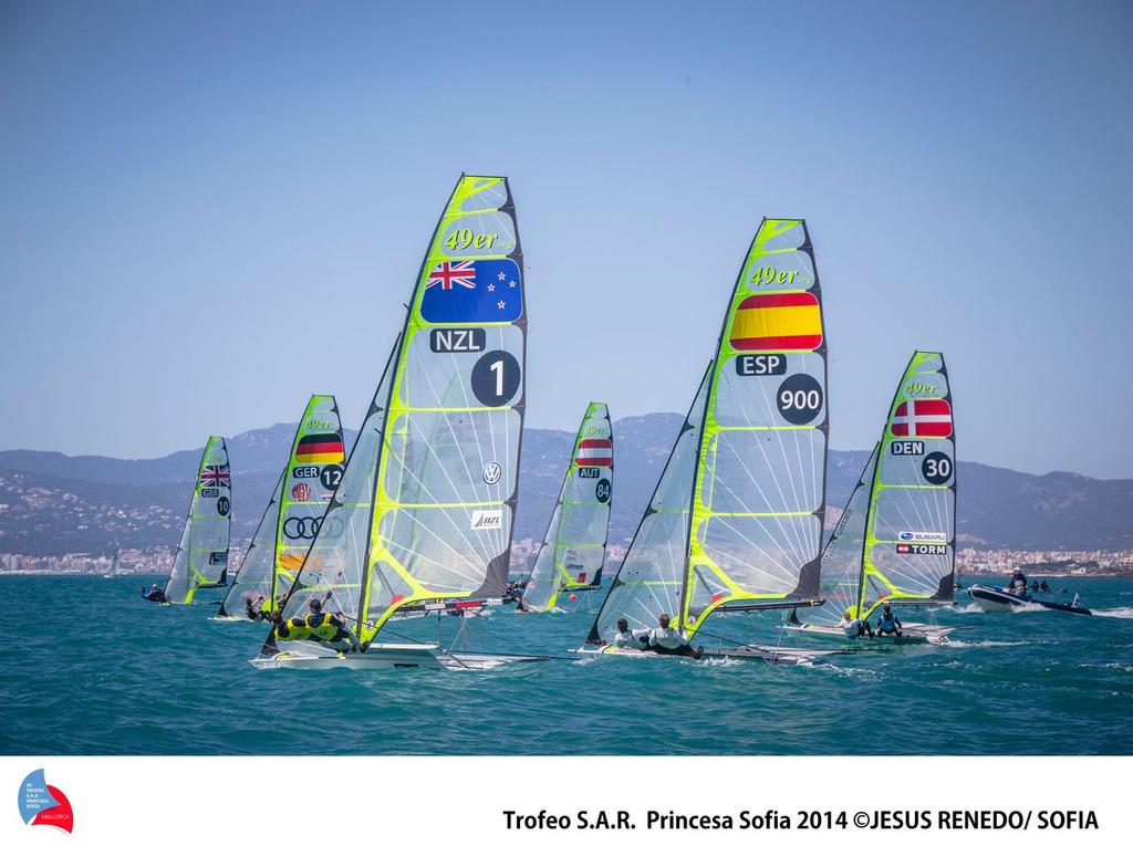Palma medal race - just leaving left side boundary rope - Palma World cup © Jesus Renedo Palma regatta media