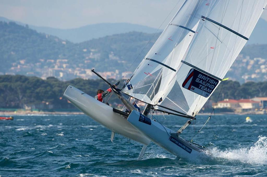 GBR, Nacra 17 ©  Franck Socha / ISAF Sailing World Cup Hyeres http://swc.ffvoile.fr/