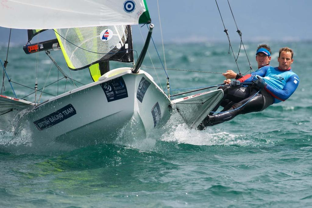 GBR4 Dylan Fletcher and Alain Sign - 2014 ISAF Sailing World Cup Hyeres ©  Franck Socha / ISAF Sailing World Cup Hyeres http://swc.ffvoile.fr/