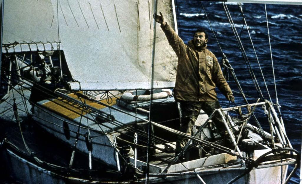 Sir Robin Knox-Johnston onboard Suhaili © Clipper Ventures