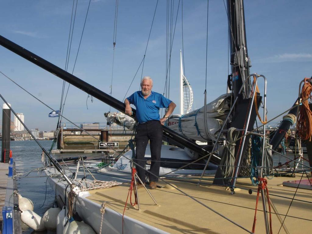 Sir Robin on his yacht Grey Power © Clipper Ventures
