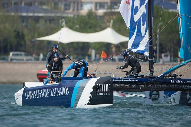 The Land Rover Extreme Sailing Series 2014.  <br /> Act 3. Qingdao. China &copy; Lloyd Images
