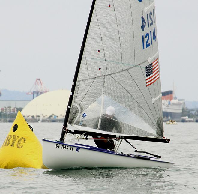 Peter Connally of Newport Harbor YC turns his Finn upwind - ABYC Memorial Day Regatta 2014 © Rich Roberts