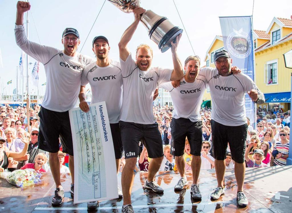 Hansen and his team won the Stena Match Cup Sweden for the third time in 2013 © Brian Carlin/AWMRT http://www.wmrt.com/