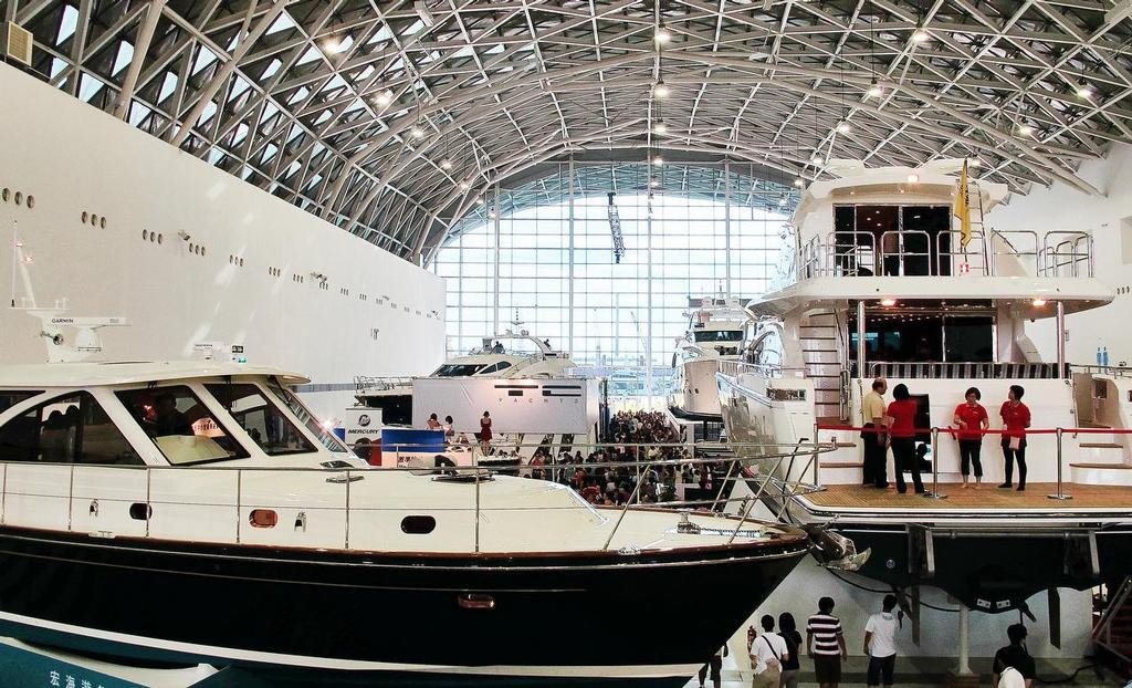 Taiwan International Boat Show 2014  - inside the Big Shed © Suzy Rayment