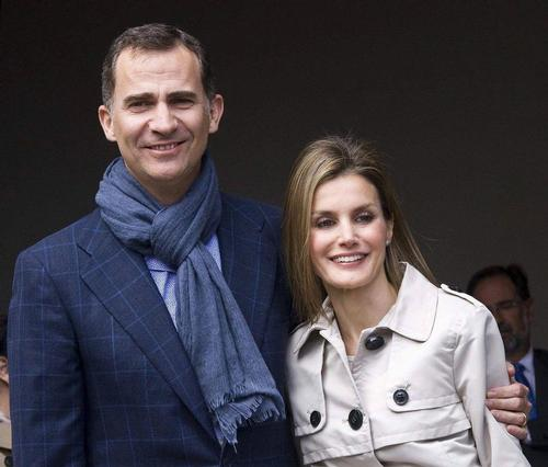 Spanish Crown Prince Felipe and his wife, Princess Letizia © EPA Photo