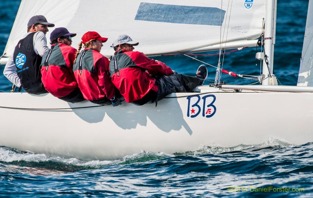 Bill Hardesty / Taylor Canfield / Stephanie Roble / Marcus Eagan - 2014 Etchells World Championship<br />  &copy; Daniel Forster http://www.DanielForster.com