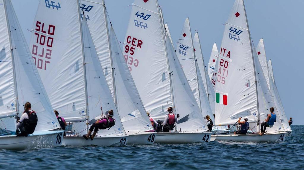 Day 1 - 470 Junior World Championship: 470 Women Fleet Upwind © Zerogradinord.it