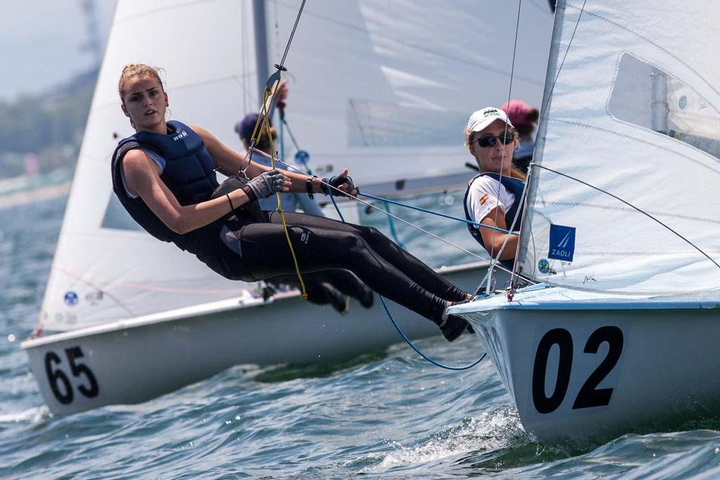 Day 1 - 470 Junior World Championship: Anna Bettoni/Sofia Carluccio (ITA) © Zerogradinord.it