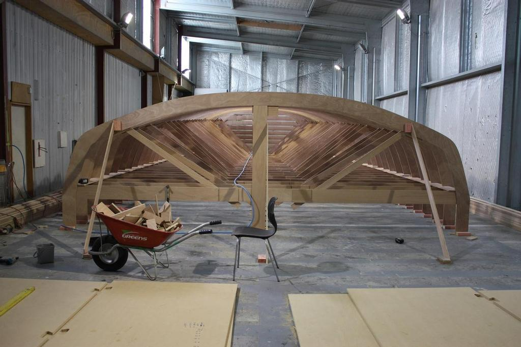 1150665 816671388349498 1053895636 o - The Bakewell-White designed supermaxi, Rio ex Lahana ex Zana being remodelled for the Transpac at Cooksons © SW