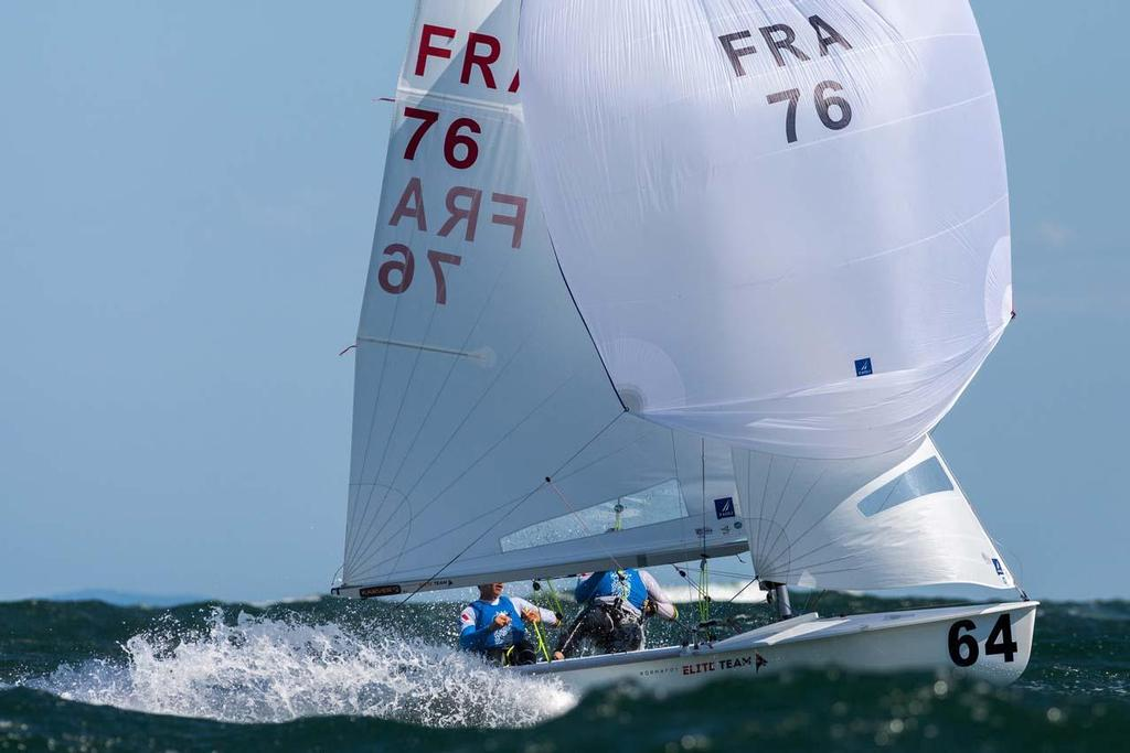 Guillaume Pirouelle and Valentin Sipan (FRA-76) - 2014 470 Junior World Championships, Day 4 © Zerogradinord.it
