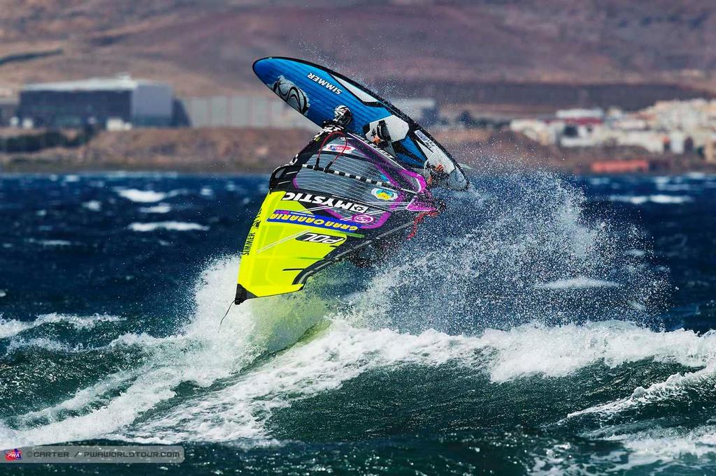 Justyna Sniady backie - 2014 PWA Pozo World Cup / Gran Canaria Wind and Waves Festival ©  Carter/pwaworldtour.com http://www.pwaworldtour.com/