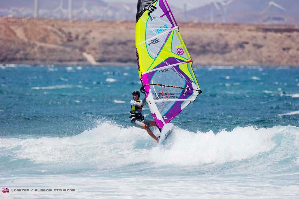 Marc Pare wins the second round of the juniors - 2014 PWA Pozo World Cup / Gran Canaria Wind and Waves Festival ©  Carter/pwaworldtour.com http://www.pwaworldtour.com/