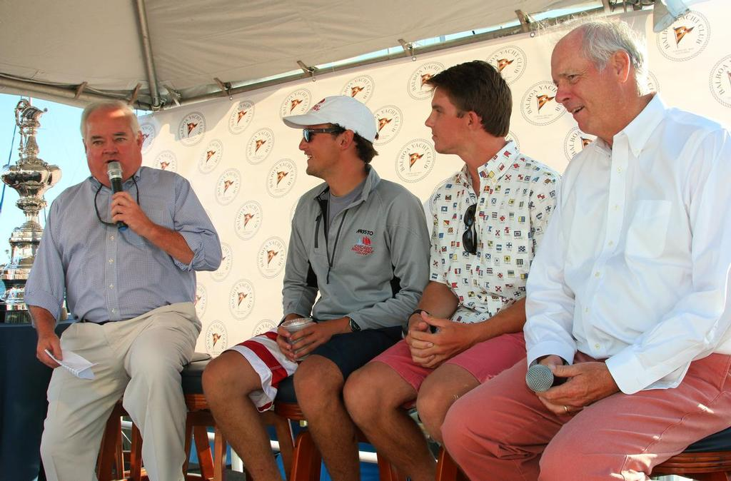 Andy Rose and Gary Jobson interview Will Holz, Chicago and Christophe Killian, BYC - 48th Balboa Yacht Club Governor's Cup Youth Match Racing Championship © Mary Longpre