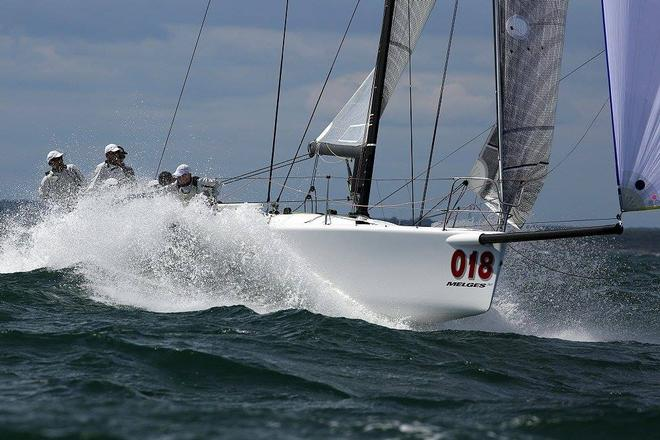 Jimmy Spithill competing in the  Melges 32 National Titles in Newport Rhode Island with Ryan Devos on Volpe.  © SW