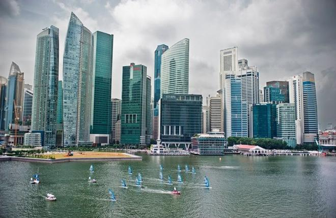 The NeilPryde Racing Series in 2011 Singapore. - Extreme Sailing Series © Lloyd Images