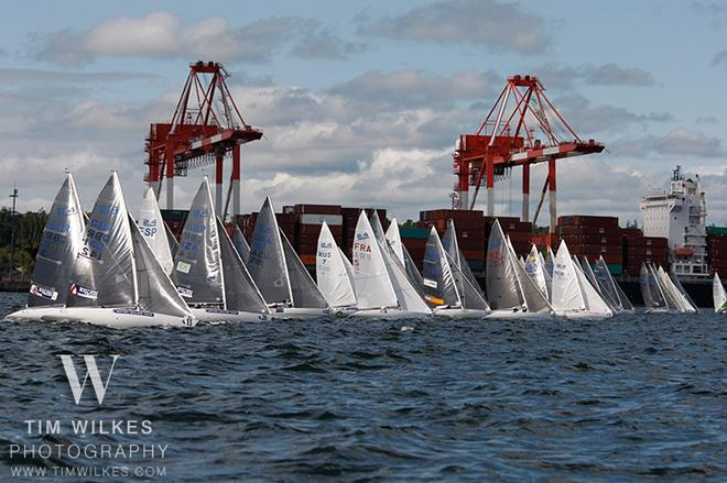 2.4 mR in front of container port - 2014 IFDS World Championships © Tim Wilkes