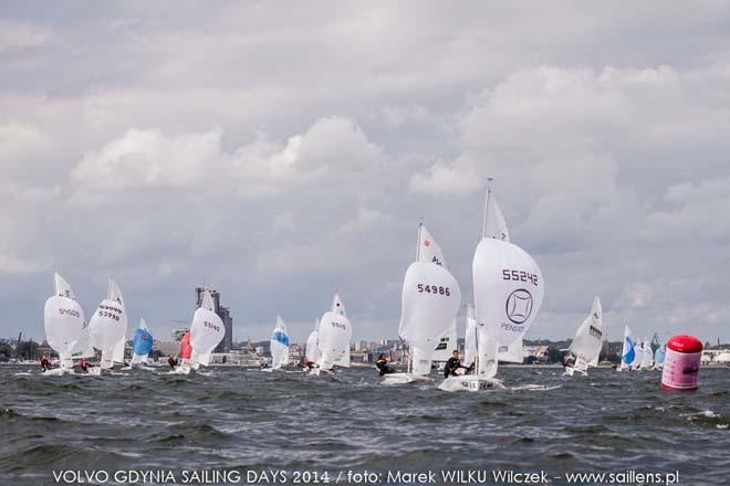 420 Fleet - 420 and 470 Junior European Championships 2014, Day 2 ©  Wilku – www.saillens.pl