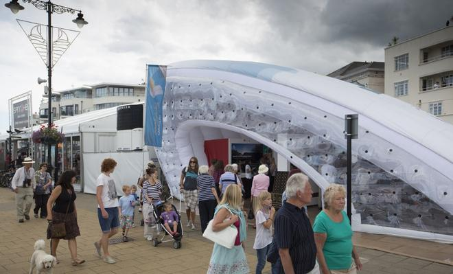 Aberdeen Asset Management Cowes Week 2013. Images showing the Visit Oman tent.   © Mark Lloyd http://www.lloyd-images.com