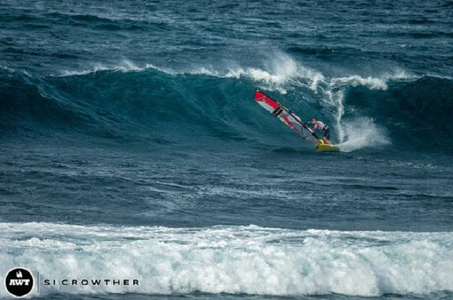 Sean Aiken. AWT Severne Starboard Aloha Classic 2014.   © Si Crowther / AWT http://americanwindsurfingtour.com/