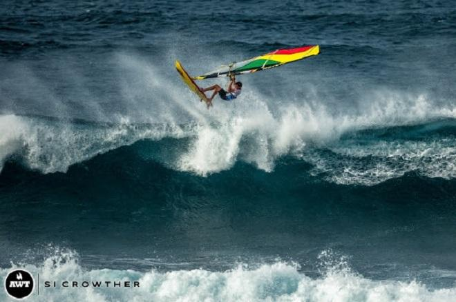 Harley Stone. AWT Severne Starboard Aloha Classic 2014.   © Si Crowther / AWT http://americanwindsurfingtour.com/