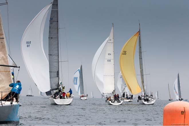 Close light air battles in Class B offshore racing today - 2014 ORC World Championship © segel-bilder.de / Christian Beeck