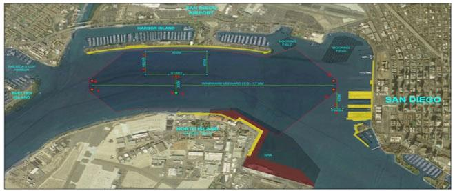 Proposed America's Cup race course area for San Diego ©  ACEA http://www.americascup.com