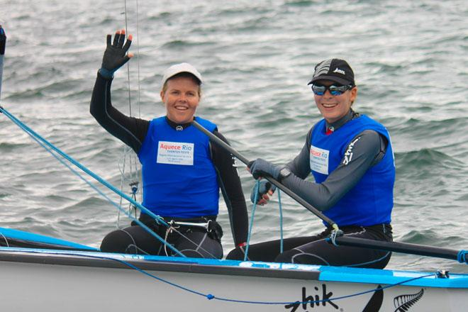 2014 Aquece Rio - Jo Aleh and Polly Powrie, 470 Women's Winners © ISAF