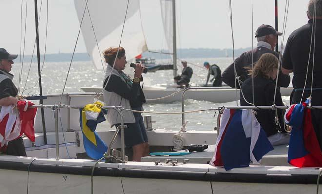 2014 Etchells Invitational Cup - The finish of the penultimate race © Rupert Holmes