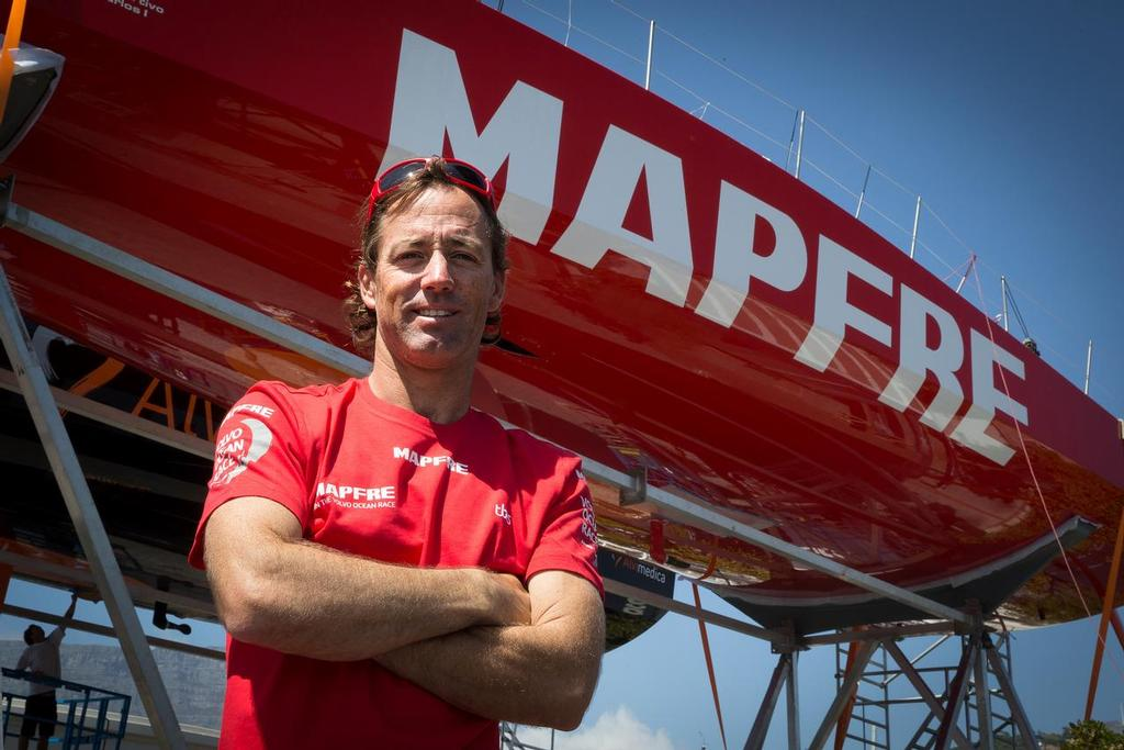 Iker Martinez, Mapfre - Cape Town, South Africa, 2014-15 Volvo Ocean Race - photo ©  María Muiña / MAPFRE