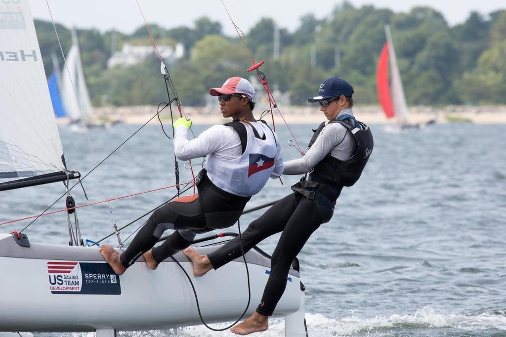Oakcliff Acorn David Hein and Chris Manson-Hing - 2014 49er, 49er FX, and Nacra 17 National Championship © David Hein