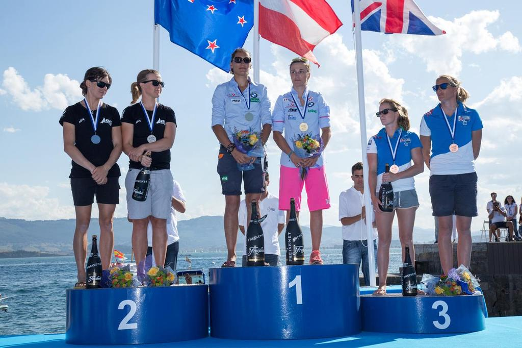 470 Women World Championship Podium Finishers © Nikos Alevromytis / Alen Photography http://www.alen.gr