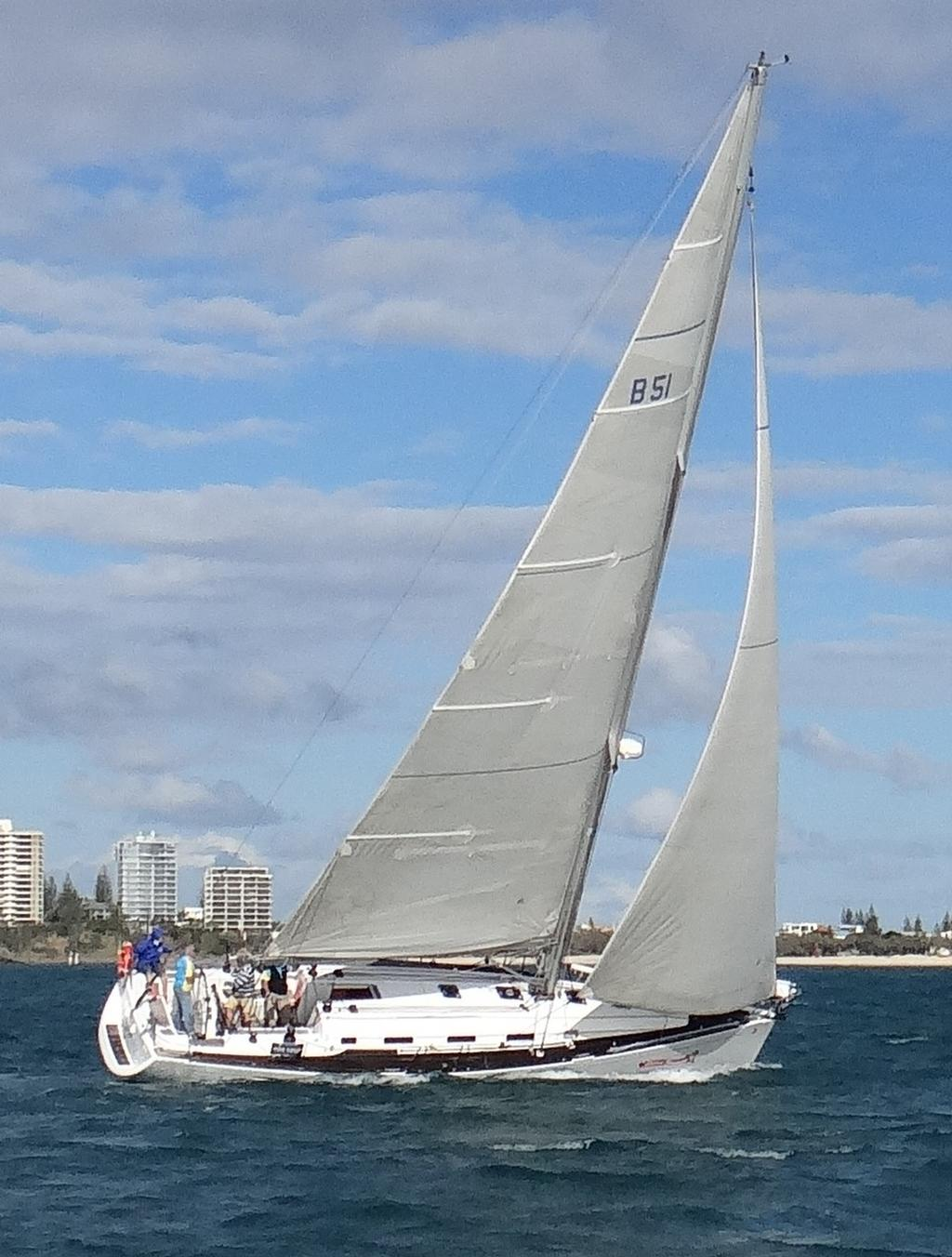 Michael Fortune's Beneteau First 44.7, 'Sweet Revenge; took out the 15 mile bay race on Day 1. © Del Morrison
