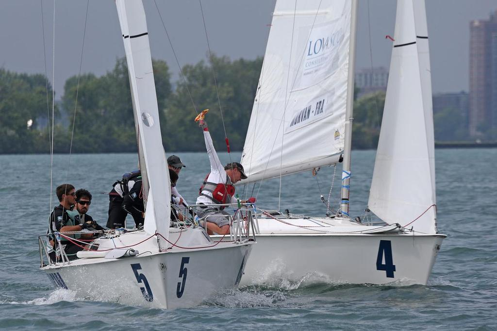 Morvan and Poole locked in battle at Finals of Detroit Cup - Detroit Cup © Isao Toyoma