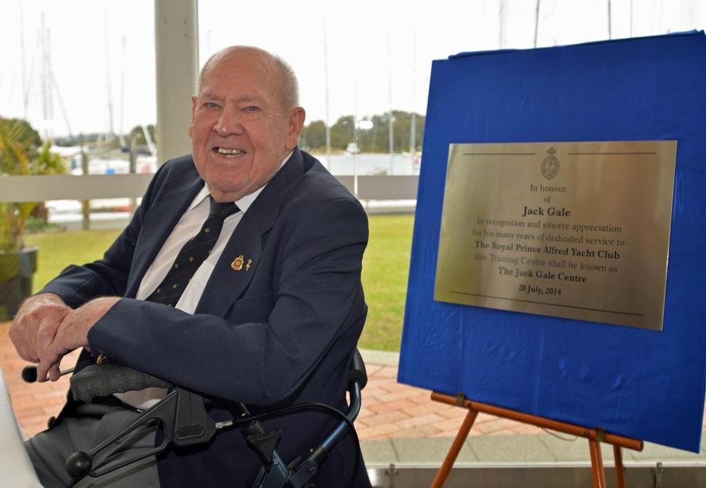 Jack Gale and plaque - credit RPAYC © Brendan Rourke