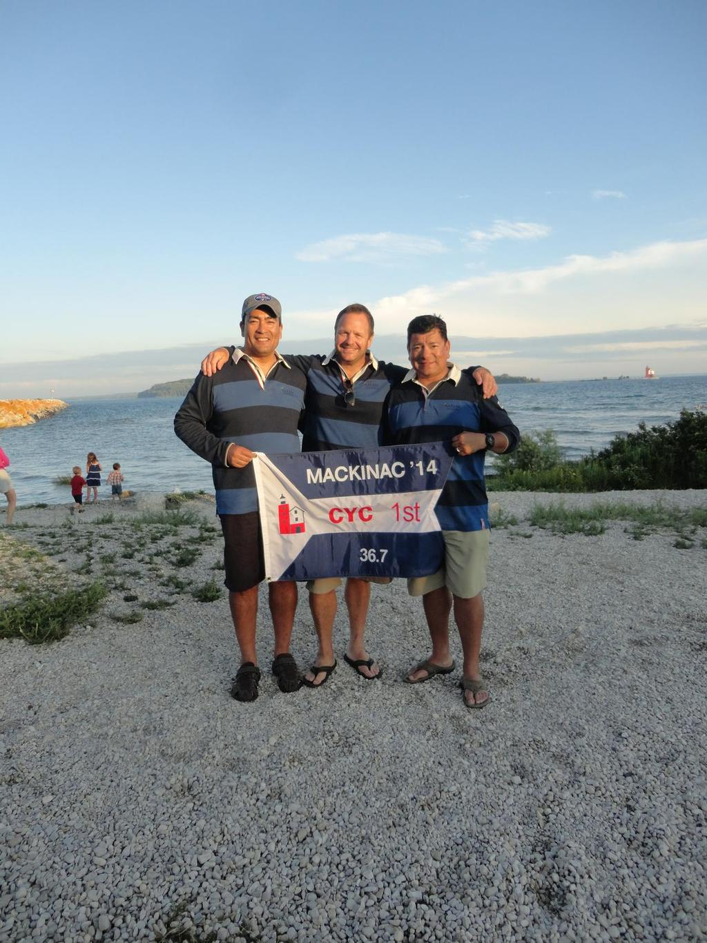 Karma Sailing Group Owners:  Martin Sandoval, Jack Buoscio and Lou Sandoval - Race to Mackinac © Sonia Sandoval
