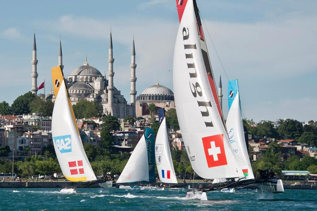 Istanbul, Turkey will host Act 6 of the 2014 Extreme Sailing Series, from 11-14 September. ©  Vincent Curutchet / Dark Frame http://www.extremesailingseries.com/