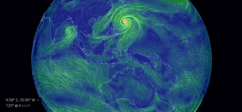 Earth Wind Map With Typhoons