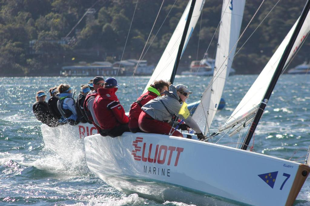 Sam Ellis establishes a controlling position and sailing fast.  © CYCA Staff - copyright