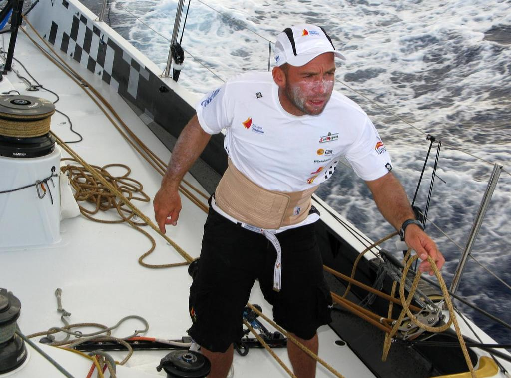 Maciel Cichetti competed in the 2008-09 Volvo Ocean Race aboard Telephonica Black as a helmsman trimmer. Image: Mikel Pasabant/Equipo Telefonica © Volvo Ocean Race http://www.volvooceanrace.com