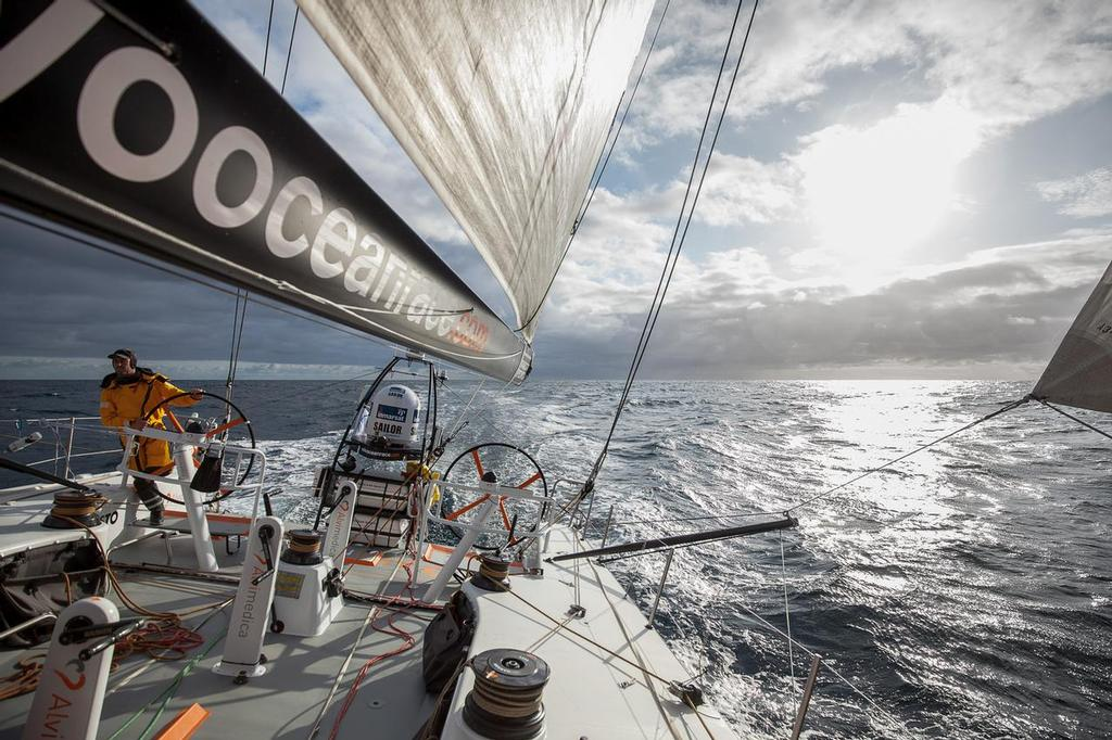 August 14, 2014. Round Britain Island Race Day 4 - OBR content Team Alvimedica: Sun and favorable winds greet Alvimedica's early watch after days of grey in the RORC's Round Britain and Ireland Race. A literal breath of fresh air. ©  Amory Ross / Team Alvimedica