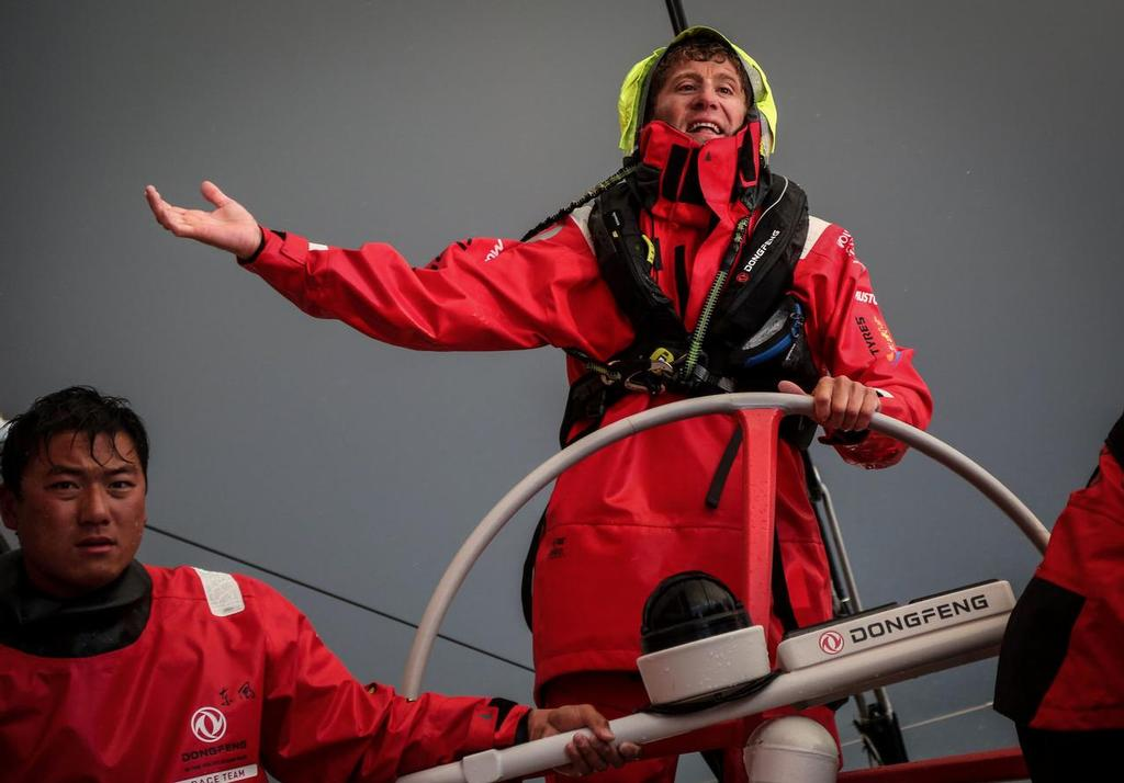August 11, 2014. Round Britain Island Race Day 1 - OBR content Dongfeng Race  © Yann Riou / Dongfeng Race Team