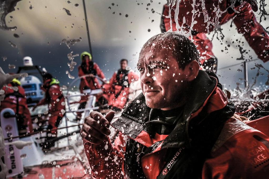 August 11, 2014. Round Britain Island Race Day 1 - OBR content Dongfeng Race Team: Kevin Escoffier © Yann Riou / Dongfeng Race Team