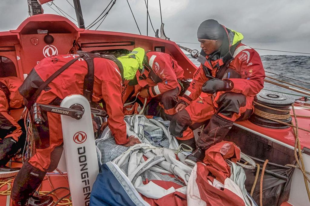 August 13, 2014. Round Britain Island Race Day 3 - OBR content Dongfeng Race Team. © Yann Riou / Dongfeng Race Team